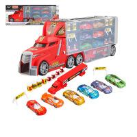 喜瑞鹿8600货柜合金车模型套装 带灯光音乐益智儿童玩具 满月周岁生日礼物六一圣诞节新年礼品