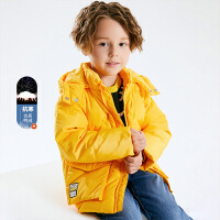 小猪班纳小黄人IP款男童羽绒服中大童连帽外套儿童