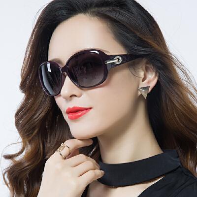 偏光太阳镜女潮墨镜女圆脸近视眼镜优雅大框复古长脸眼睛