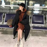 女中长款2018新款冬季潮学生棉袄羽绒棉衣ins面包服过膝外套 X