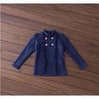 女童打底衫冬季高领女宝宝保暖上衣 儿童t恤