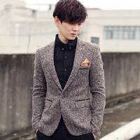 秋冬韩版男装修身时尚西服英伦休闲西服青少年西装外套
