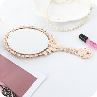 手持美容院化妆镜子便携随身牙科复古花边镜高清手柄化妆镜手拿