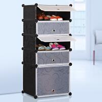 林仕屋简易鞋柜防尘鞋架组装组合多层树脂简约现代大容量塑料收纳柜靴子柜