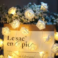 LED玫瑰花灯串防水小彩灯串灯婚房卧室房间装饰灯串求婚表白灯串