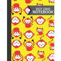 【预订】Dot Grid Notebook: Cute Bright Red & Yellow Monkey, Ape