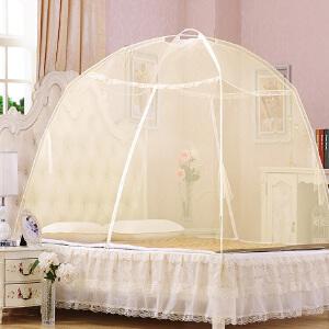 蒙古包蚊帐支架双开门1.8m米宿舍有底家用双人1.5m拉链1.2床