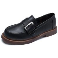 英伦风小皮鞋女学生学院风复古森系单鞋平底百搭黑色鞋子韩版女鞋