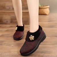 冬季老北京布鞋女棉鞋高帮加厚中老年妈妈鞋防滑保暖老人奶奶棉鞋