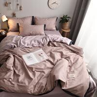 北欧风床上四件套全棉纯棉床品套件网红款床单被套宿舍三件套床笠