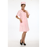 护士服秋装半袖 医师 美容服 护士服短袖 粉色 大褂