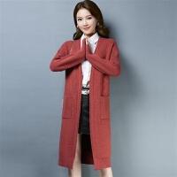 毛衣女宽松针织开衫外套女中长款秋冬装韩版外搭毛衣披肩外套