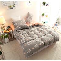 20191108122801769印花水洗棉四件套格子良品被套床单床上用品