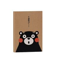 【正版授权】酷MA萌 熊本熊牛皮纸精装硬抄空白记事日记笔记本子学生本 茶色