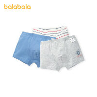 【1件6折价:33.5】巴拉巴拉男童内裤平角裤棉四角儿童短裤中大童小童宝宝三条装