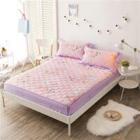 全棉夹棉床笠 防滑席梦思床垫保护套 单双人床罩单件1.2/1.5/1.8米加厚单件