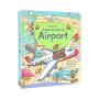Usborne Look Inside An Airport 看里面系列机场百科 儿童英语立体翻翻书 英文原版图书
