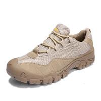 夏季透气网面户外登山鞋男中老年健步鞋耐穿软底老人鞋爸爸休闲鞋夏季百搭鞋