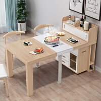 多功能餐桌可伸缩带电磁炉可折叠小户型省空间伸缩桌子用饭桌餐边柜