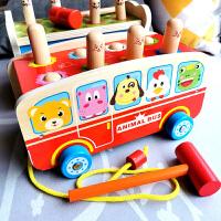 大号打地鼠幼儿童益智敲琴动物带音乐敲击宝宝木质智力玩具