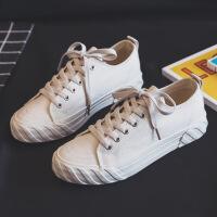2019潮鞋夏季帆布鞋女学生韩版百搭潮布鞋港味板鞋小黑鞋子夏季百搭鞋