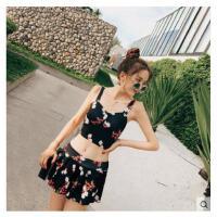 泳衣女分体裙式韩国性感聚拢小胸遮肚两件套温泉比基尼