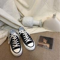 春季新款ulzzang帆布鞋韩版百搭女学生街拍小白鞋