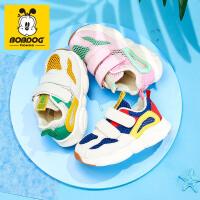 夏季巴布豆小熊鞋运动休闲鞋小童鞋轻便儿童机能鞋男童女童透气单网面学步鞋宝宝鞋子