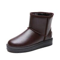 冬季雪地靴女短筒2019新款中筒靴防水防滑加绒棉鞋平底短靴厚底潮