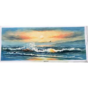 风景油画作品  70X180-075