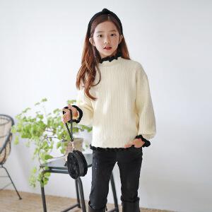 TS4671韩版女童毛衣显瘦气质上衣童t秋冬新品童装长袖