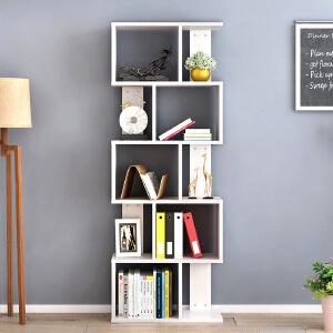 书架 简约现代家用多层置物架简易落地陈列架柜子创意个性自由组合收纳储物架书房客厅整理架子家具用
