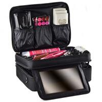 隔板收纳大号三层化妆包化妆箱跟妆手提美容纹绣工具包防水韩