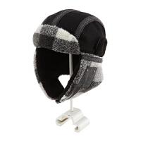 帽子男冬天韩版潮雷锋帽冬季男士时尚护耳冬帽加厚滑雪帽冬