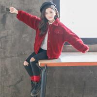 女童秋冬装外套洋气儿童上衣冬季大童潮