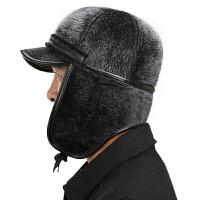 中老年人帽子男冬天老人帽保暖雷锋帽男士冬季爸爸爷爷护耳帽