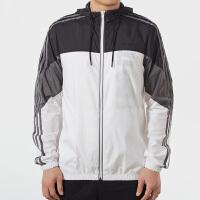 Adidas阿迪达斯 男装 运动防风衣连帽夹克外套 EJ7072