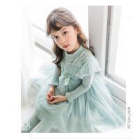 女童连衣裙冬飞袖儿童洋气裙子小女孩公主裙