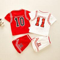 男童装灌篮高手篮球服套装洋气夏装男孩子宝宝帅气衣服两件套