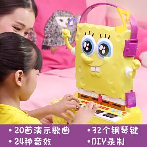 海绵宝宝儿童电子琴男女孩钢琴乐器宝宝初学益智功能教学音乐玩具