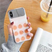 橘子镜面高档iphone苹果x/xr/87plus手机壳超薄软套少女款时尚 6/6s 4.7 镜面橘子