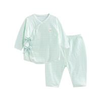 婴儿内衣套装纯棉和尚服新生儿睡衣两用裆提花净色两用裆合同套