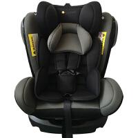 【当当自营】 英国zazababy 儿童安全座椅0-12岁isofix硬接口 黑灰 0-12岁超长使用年龄