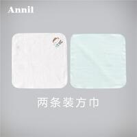 【爆款直降 满200-20】安奈儿童装男童女童婴小童春季新款两条装方巾XM810670