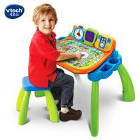Vtech�ヒ走_�c�|�W�桌 �和�游�蜃� 多功能玩具�_ 早教益智玩具桌