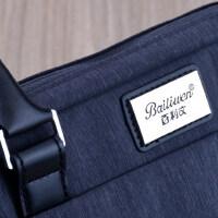 百利文手提帆布文件包A4男女士办公文包会议袋商务防水时尚电脑包