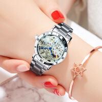 手表女 镂空钢带腕表 防水时尚手表