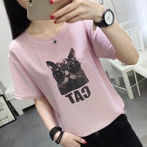 夏季新品休闲短袖T恤女韩版宽松显瘦女装
