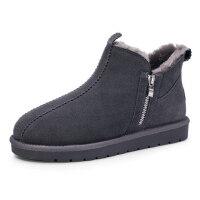 骆驼牌男士靴子 冬季新款保暖加绒雪地靴男休闲时尚牛皮鞋