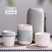 快客杯一壶一杯陶瓷功夫茶杯旅游茶壶日式便携旅行茶具套装 支持礼品卡支付